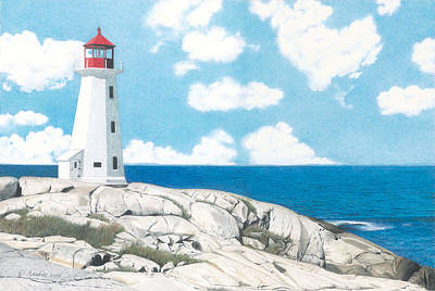 Peggy's Cove Nova Scotia Art Print by Wilfrid Barbier