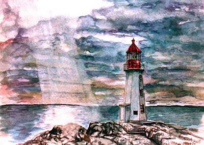 Peggy's Cove Art Print by Paul Sandilands