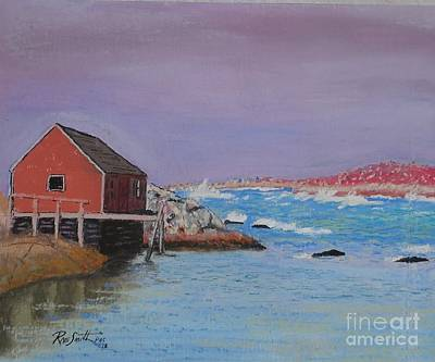 Pastel - Peggy's Cove by Rae  Smith PAC