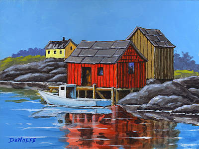 Painting - Peggys Cove by Richard De Wolfe