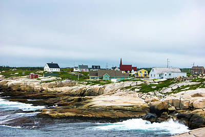 Digital Art - Peggy's Cove Shoreline by Gene Norris