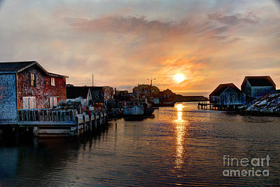 Photograph - Peggy's Cove Sunset by Jean Hutchison