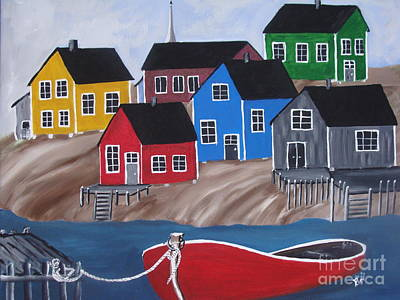 Peggy's Cove Village Original by Beverly Livingstone
