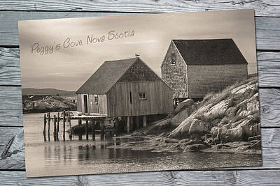 Photograph - Peggy's Cove by WB Johnston