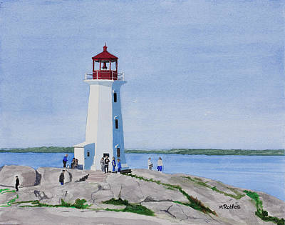 Painting - Peggy's Point Lighthouse by Mike Robles