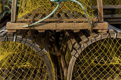 Photograph - Pei Loberster Traps With Yellow Netting by Chris Bordeleau