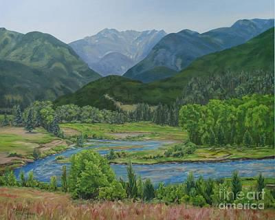 Colorado Landscape Peidra River Bend Original