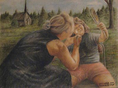 Peinture De Visage Art Print