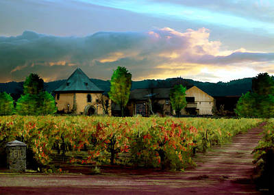 Winery Painting - Peju Winery by Paul Bailey