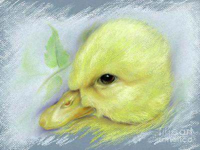 Pastel - Pekin Duckling Portrait by MM Anderson