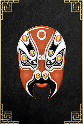 Digital Art - Peking Opera Face-paint Masks - Hou Yi by Serge Averbukh