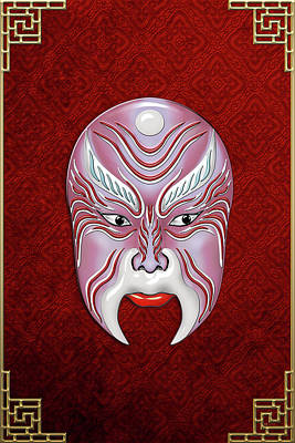 Digital Art - Peking Opera Face-paint Masks - Jiang Shang by Serge Averbukh