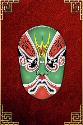Digital Art - Peking Opera Face-paint Masks - Zheng Lun by Serge Averbukh