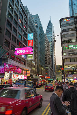 Photograph - Peking Road Tsim Sha Tsui Kowloon Hong Kong China by Adam Rainoff