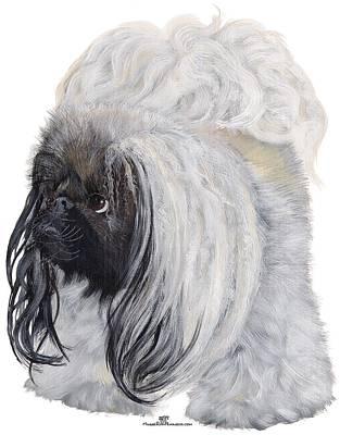 Painting - Pekingese Dog by Ann Kallal