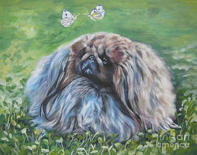 Painting - Pekingese by Lee Ann Shepard