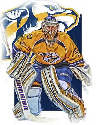 Hockey Mixed Media - Pekka Rinne Nashville Predators by Joe Hamilton
