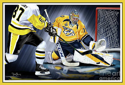Digital Art - Pekka Rinne Stanley Cup by Don Olea