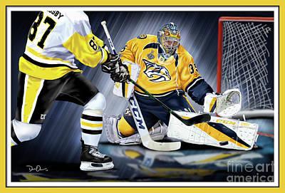Digital Art - Pekka Rinne Stanley Cup by Don Olea