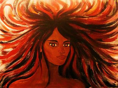 Pele Painting - Pele Fire Goddess by Charles  Jennison