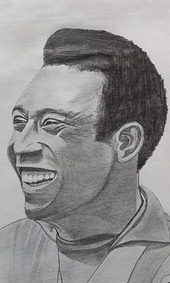 Pele Drawing - Pele by Premnath Mohan