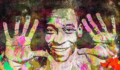 Mixed Media - Pele by Svelby Art