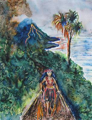 Pele The Fire Goddess Original by Christine Kfoury