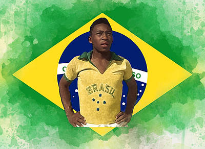 Pele Digital Art - Pele The Great. by Karl Knox
