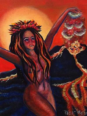 Painting - Pele The Hawaiian Goddess by Katerina Roy