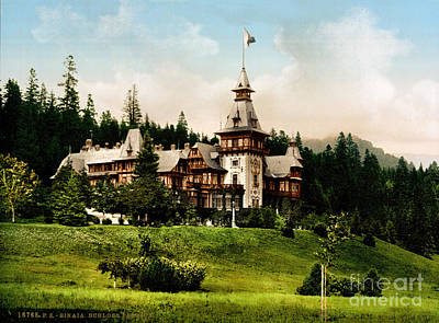 Athletes Royalty-Free and Rights-Managed Images - Peles Castle by Celestial Images