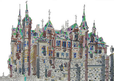 Pele Mixed Media - Peles Castle by George-Paul Mihail
