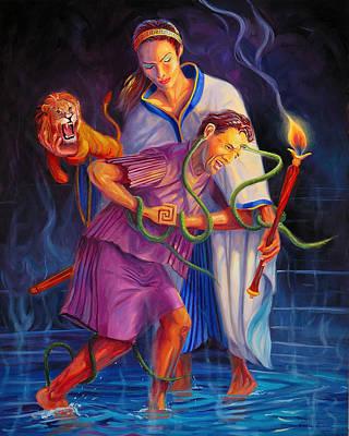 Peleus And Thetis Original by Steve Simon