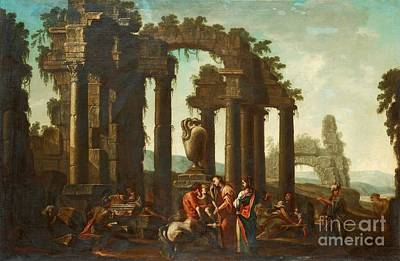 Clemente Painting - Peleus Consigning Achilles To Chiiron by Celestial Images