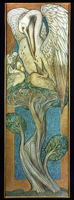 Painting - Pelican, 1880 by Edward Burne Jones