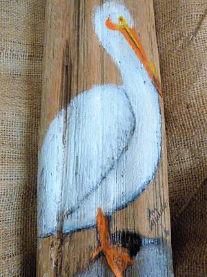 Mixed Media - Pelican by Ann Michelle Swadener