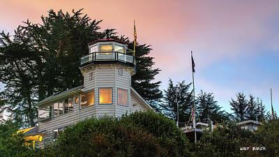 Photograph - Pelican Bay Lighthouse by Walt Baker