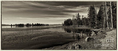 Photograph - Pelican Bay Morning - Yellowstone by Sandra Bronstein