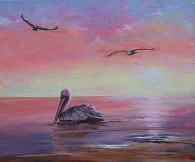 Painting - Pelican Bay by Ruth Kamenev