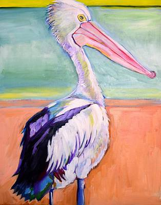 Abstract Realism Painting - Pelican Beach by Anne Seay