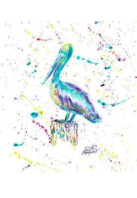 Pelican By Jan Marvin Art Print