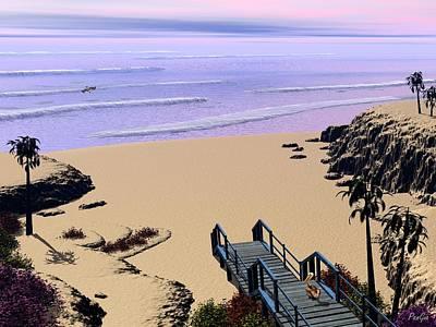 Digital Art - Pelican Cove by John Pangia