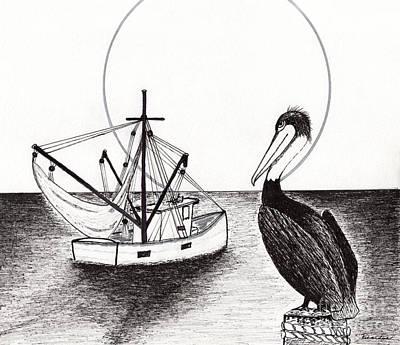 Pelican Fishing Paradise C1 Art Print