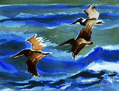 Painting - Pelican Flight  10-15-15 by Julianne Felton