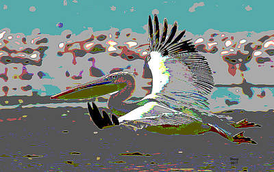 Rowboat Mixed Media - Pelican Genus by Charles Shoup
