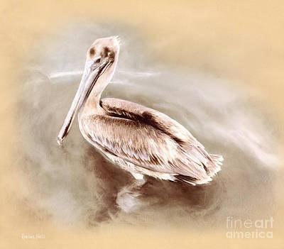 Pelican Gold Art Print by Korrine Holt
