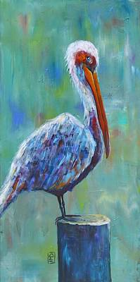 Painting - Pelican by Holly Donohoe