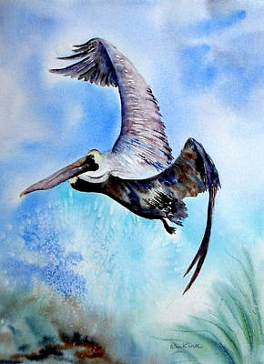 Painting - Pelican In Flight by Diane Kirk