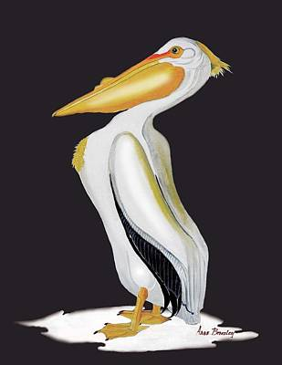 Painting - Pelican In Oil by Anne Beverley-Stamps