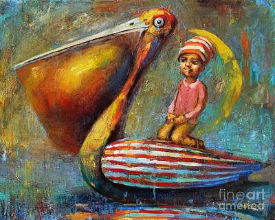 Pelican Journey Art Print by Michal Kwarciak