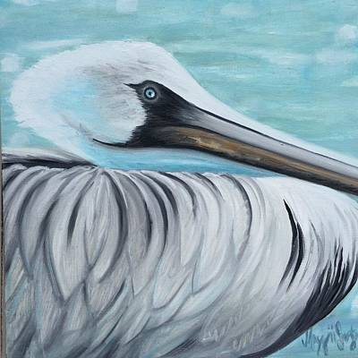 Waterfowl Painting - Pelican by Maggii Sarfaty